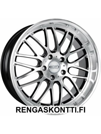 "DOTZ MUGELLO BLACK FRONT POLISHED 6.5x15"" 5x114.3 ET35 KR71.6"