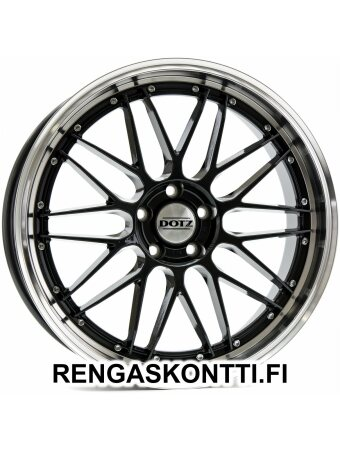 "DOTZ REVVO  GUNMETAL POLISHED 7.5x17"" 5x114.3 ET48 KR71.6"
