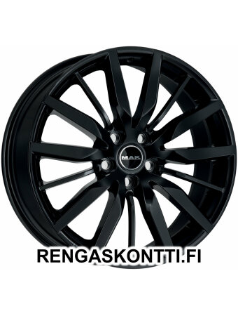 "MAK BARBURY GLOSS BLACK 9.5x20"" 5x112 ET55 KR66.6"