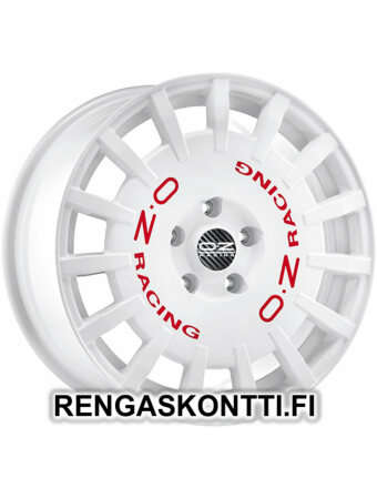 """OZ RACING RALLY RACING WHITE RED LETTERING 8.5x19"""" 5x112 ET44 KR75.1"""